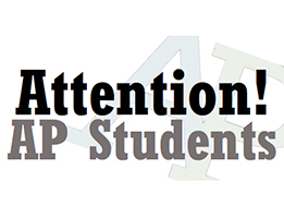 Attention AP Students